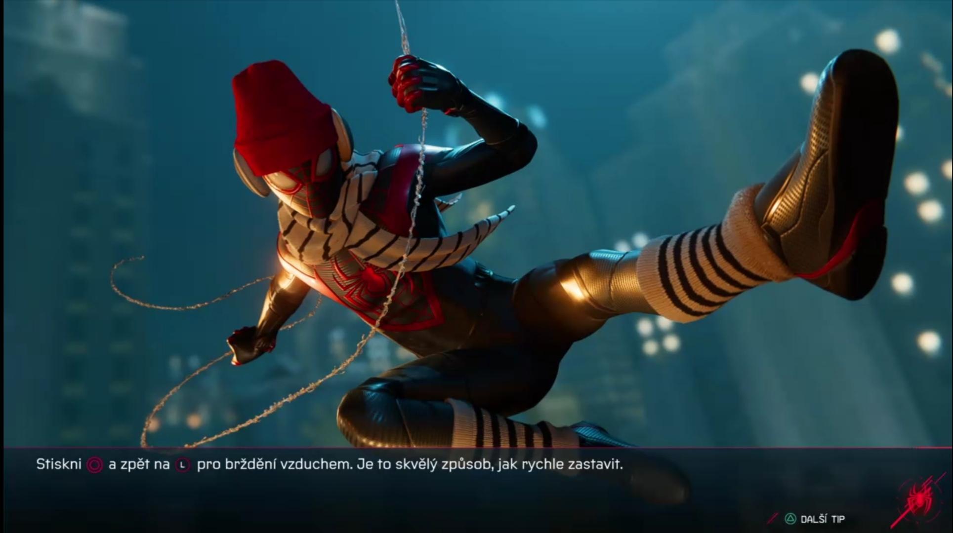 Počas načítania hry vám hra dáva tipy (Foto: Spider-Man Miles Morales)
