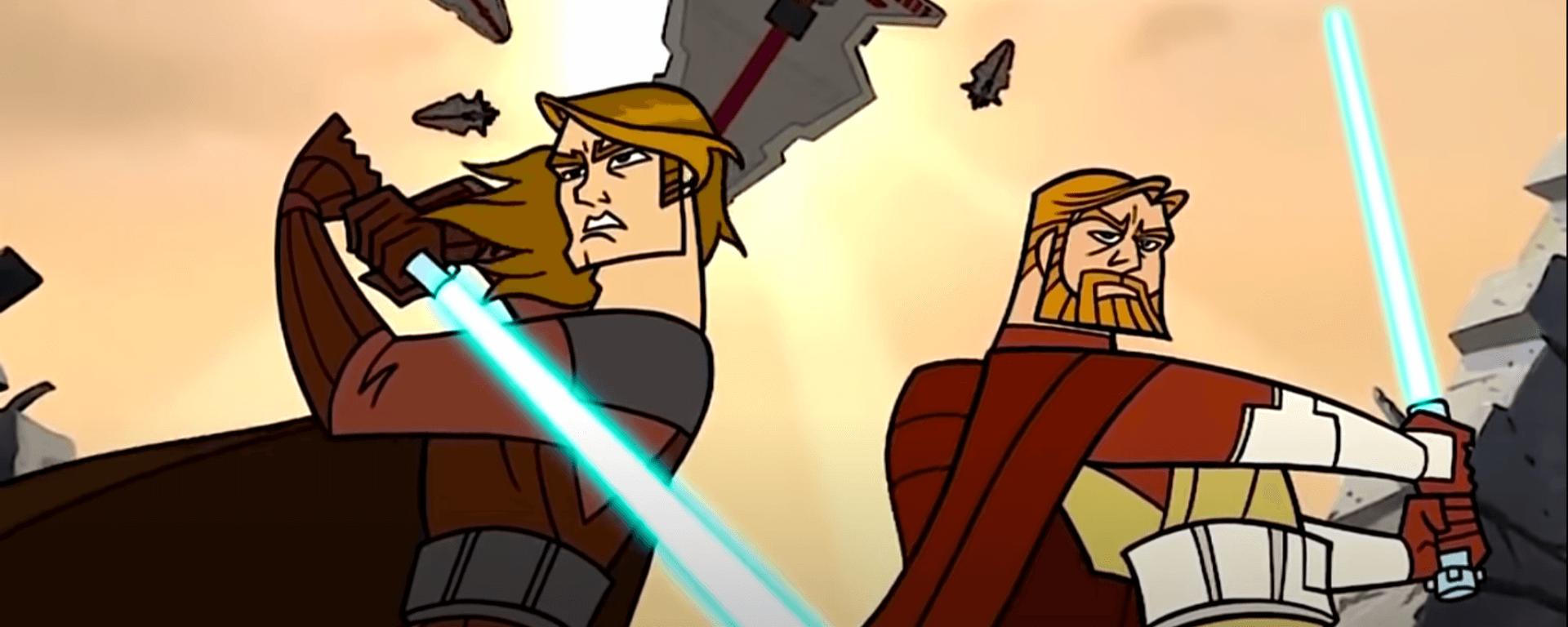 Anakin a Obi-Wan sa nezastavia pred ničím (Foto: screenhub.blog)